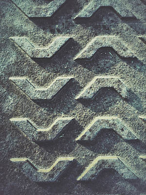 Weathered Metal Texture Print by Tom Gowanlock