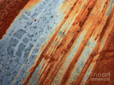 Photograph - Weathered Metal With Stripes by Carol Groenen
