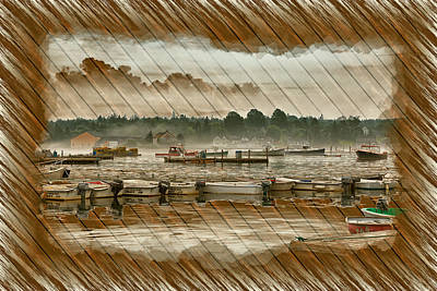 Photograph - Weathered Nautical Decoupage by John M Bailey