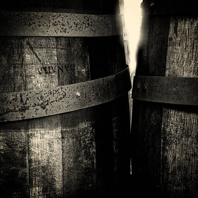 Photograph - Weathered Old Apple Barrels by Bob Orsillo