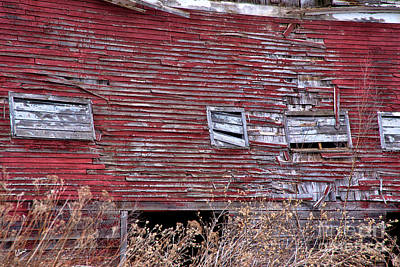 Photograph - Weathered Old Barn by Alana Ranney
