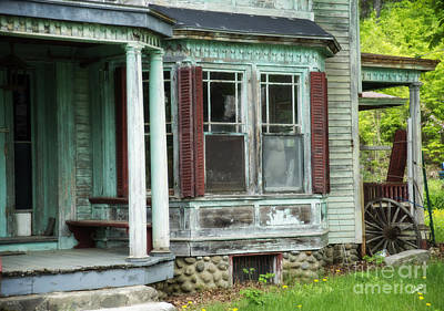 Photograph - Weathered Old Home by Alana Ranney