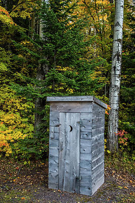 Old Outhouse Photograph - Weathered Outhouse by Paul Freidlund