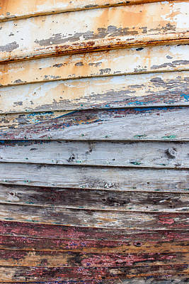 Peeling Painted Wood Wall Art - Photograph - Weathered Paintwork by Chris Dale