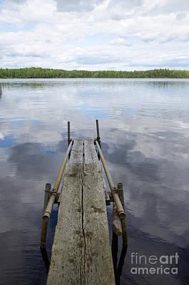 Sweden Photograph - Weathered Plank Pier by Kennerth and Birgitta Kullman