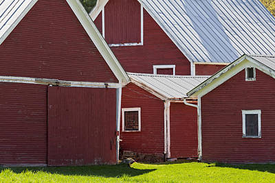 Photograph - Weathered Red Barns by Alan L Graham