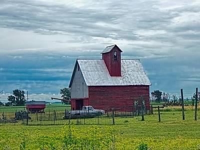 Weathered - Rustic Illinois Barn Print by Chrystyne Novack