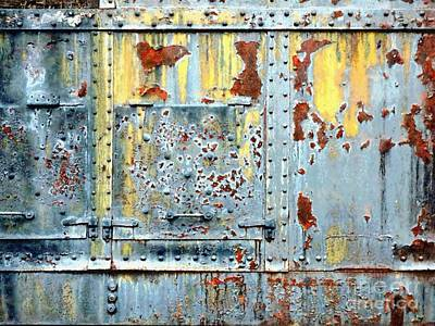 Photograph - Weathered Steel - Weathered The Storm by Janine Riley