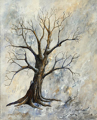 Painting - Weathered Tree 4 by Sandy Clift