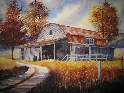 Boone Painting - Weathered Warmth by Shirley Braithwaite Hunt