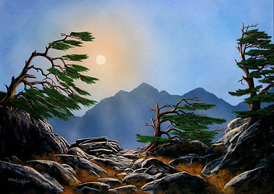 Pacific Crest Trail Painting - Weathered Warriors by Frank Wilson