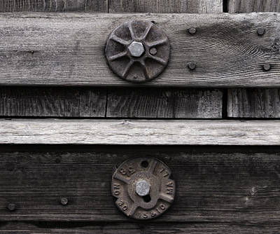Photograph - Weathered Wood And Metal Five by Kandy Hurley
