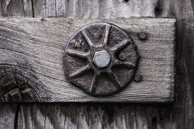 Photograph - Weathered Wood And Metal One by Kandy Hurley