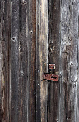 Photograph - Weathered Wood And Rust by Mark Alesse