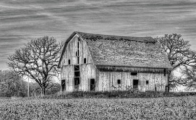 Photograph - Weathered Wood Of Iowa by J Laughlin