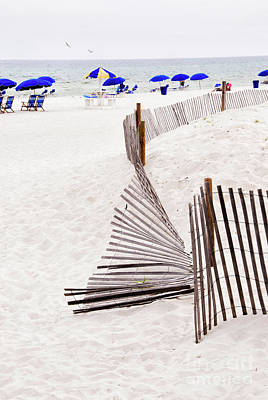 Photograph - Weathered Wooden Fence On A Florida Beach by Vizual Studio