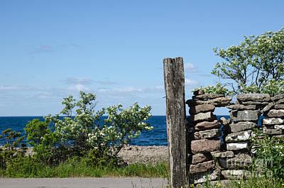 Photograph - Weathered Wooden Pole by Kennerth and Birgitta Kullman