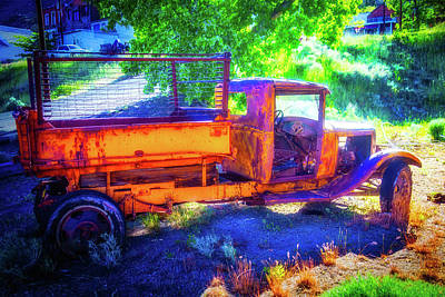 Weathered Yellow Truck Art Print by Garry Gay