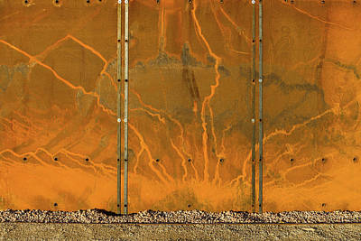 Photograph - Weathering Steel Panels Ibcc by Gary Eason
