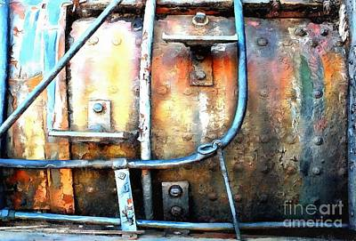 Art Print featuring the photograph Weathering Steel - Rail Rust by Janine Riley