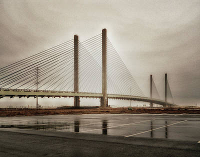 Photograph - Weathering Weather At The Indian River Inlet Bridge by Bill Swartwout