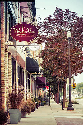 Art Print featuring the photograph Weathervane Downtown Menasha by Joel Witmeyer