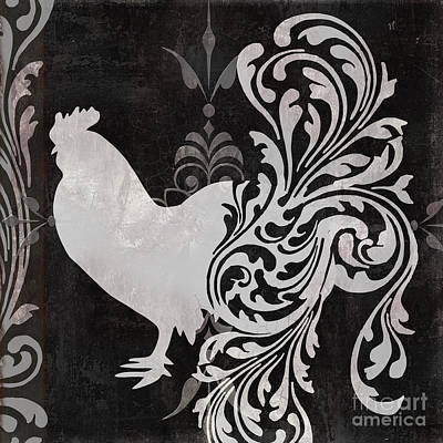 Rooster Painting - Weathervane I by Mindy Sommers