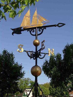 Gold Weathervane Photograph - Weathervanes by Jim and Pat McGraw