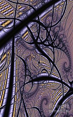 Digital Art - Weave Interrupted by Ron Bissett