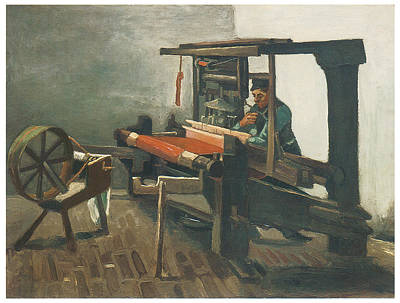 Weaving Painting - Weaver by Vincent van Gogh
