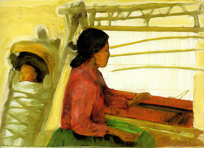 Art Print featuring the painting Weaving The Way by FeatherStone Studio Julie A Miller