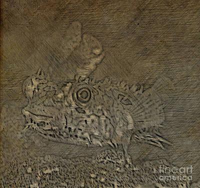 Digital Art - Web Burrfish Drawing by Steven Parker