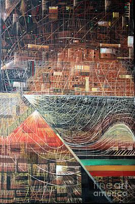 World Wide Web Painting - Web by Masoud Farshchi