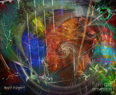 Digital Art - Web Of Collective Unconsciousness by Rhonda Strickland