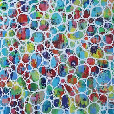 Web Of Colour 2 Resin Art Print