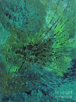 Gloss Varnish Painting - Web Of Jealousy by Shelly Wiseberg