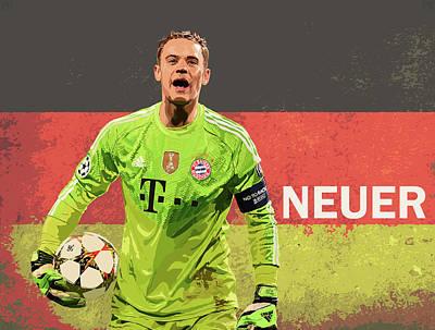 Goalkeeper Digital Art - Manuel Neuer by Ping Peganan