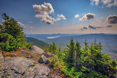 Photograph - Webb Lake Viewed From Tumbledown Mountain by Rick Berk