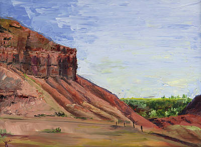 Painting - Weber Sandstone by Nila Jane Autry