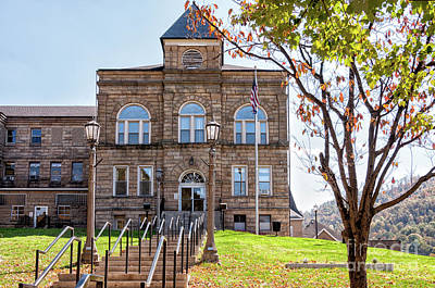 Photograph - Webster County Courthouse, Wv by Kathleen K Parker