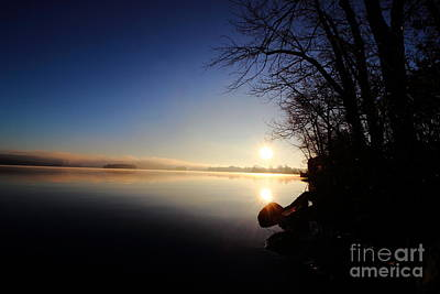 Photograph - Webster Lake Morning Solitude   by Neal Eslinger