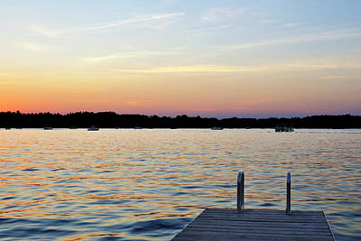 Photograph - Webster Lake Sunset Dock by Luke Moore