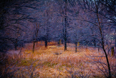 Painting - Webwoods by Michael Gross