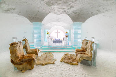Space Photographs Of The Universe - Wedding Altar, Ice Hotel by Chris Beard