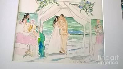 Painting - Wedding At Naples, Florida by Jill Morris
