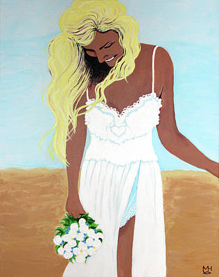 Painting - Wedding At The Beach by Marilyn Hilliard