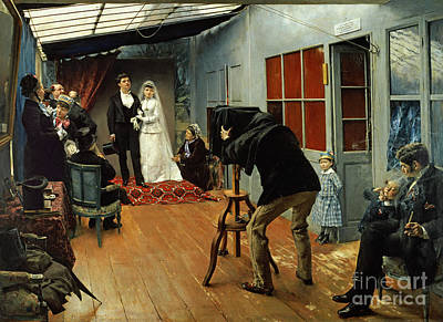 Inviting Painting - Wedding At The Photographer's by Pascal Adolphe Jean Dagnan-Bouveret