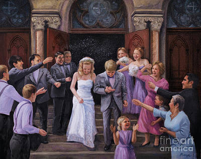 Maid Of Honor Painting - Wedding Bells by Christopher Panza