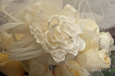Photograph - Wedding Bouquet And Veil by Kathleen K Parker
