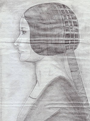 Pencil Drawing - Wedding Bride by M Valeriano